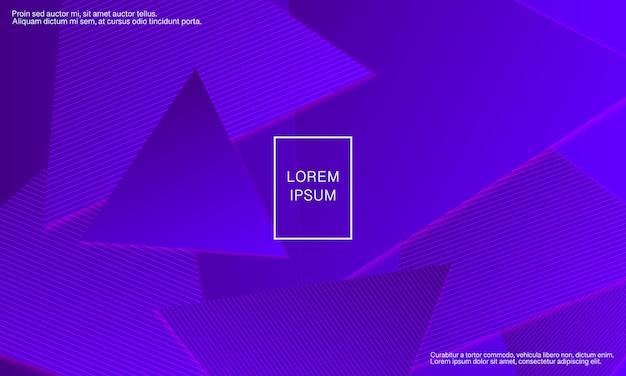 Fioletowe tło. streszczenie okładki. trójkąt geometryczne tło.