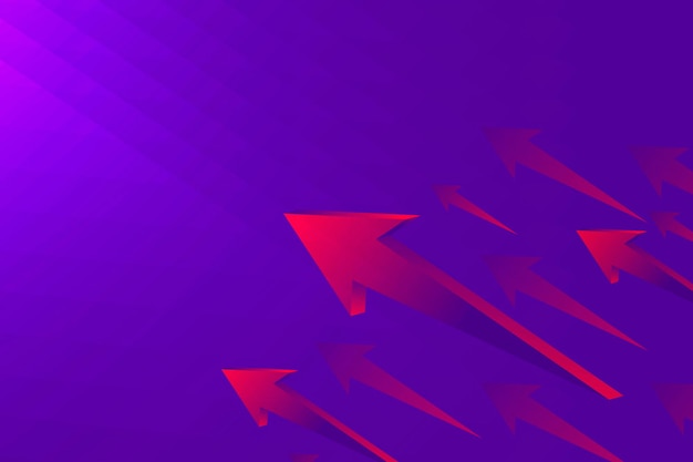Fioletowe tło strzałki, nowoczesne obramowanie, koncepcja technologii wektor
