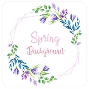 Fioletowe tło wiosna