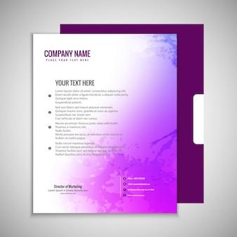 Fioletowy broszura szablon