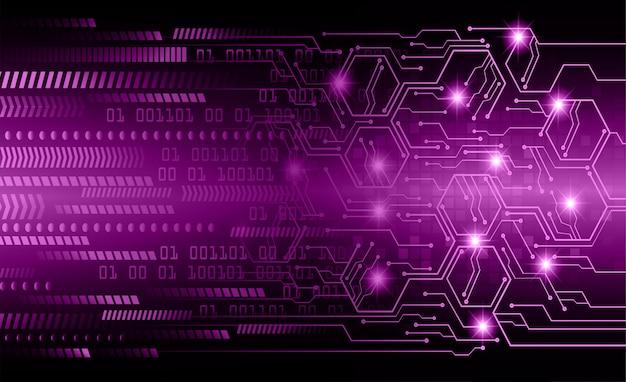 Fioletowy cyber sześciokąta obwodu przyszłości technologii koncepcja tło