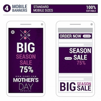 Fioletowy dzień matki telefony wyskakujące reklamy