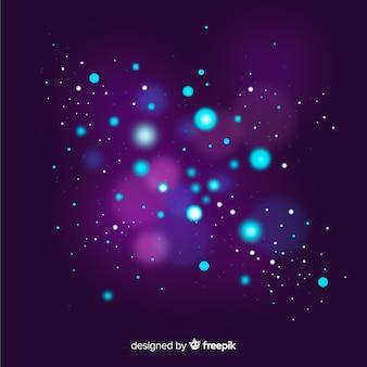 Fioletowy efekt pływających cząstek