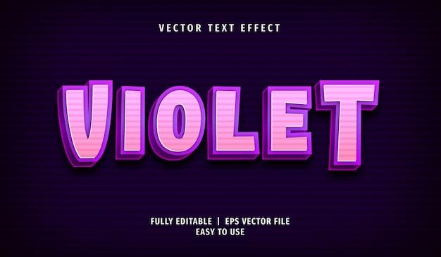 Fioletowy efekt tekstowy, edytowalny styl tekstu