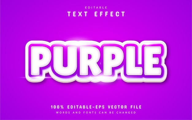 Fioletowy efekt tekstowy
