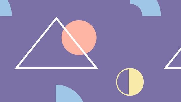 Fioletowy geometryczny wzorzysty szablon