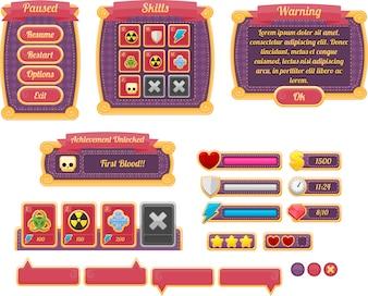 Fioletowy GUI gry