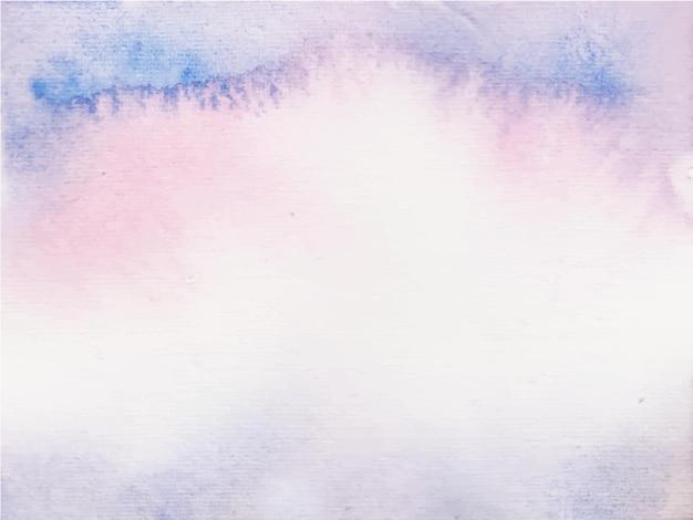 Fioletowy i różowy streszczenie tło akwarela, farby ręczne. kolor rozpryskiwania się na papierze