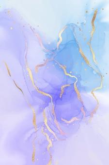 Fioletowy i turkusowy płynne tło akwarela