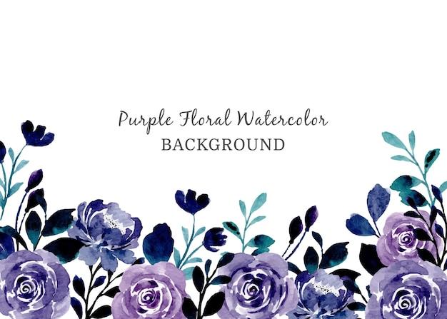 Fioletowy kwiatowy streszczenie tło akwarela