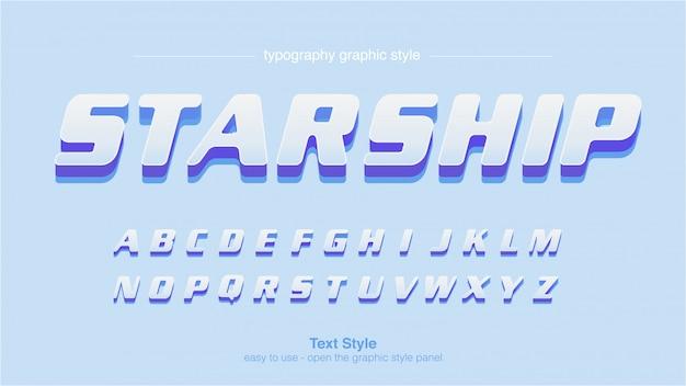 Fioletowy niebieski wyświetl typografię z cieniami