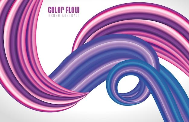 Fioletowy przepływ koloru białe tło