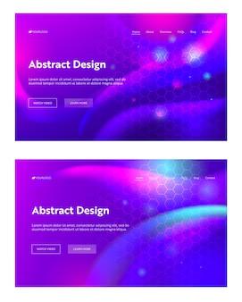 Fioletowy streszczenie geometryczny kształt sześciokąta landing page ustawić tło.