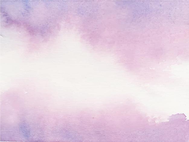 Fioletowy streszczenie tło akwarela. kolor rozpryskiwania się na papierze