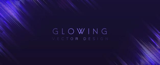Fioletowy świecące tło wektor neon