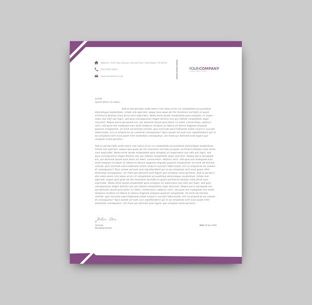 Fioletowy szczegóły szablon firmowy