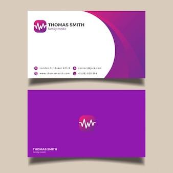 Fioletowy wizytówka medyczna