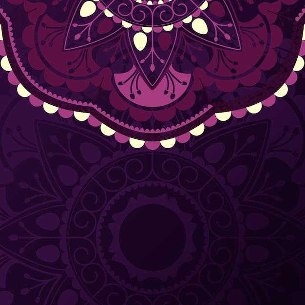 Fioletowy wzór mandali