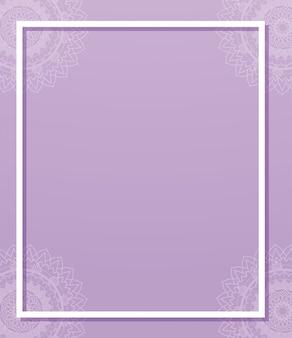 Fioletowy z wzorami mandali
