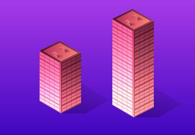 Fioletowy zestaw 3d futurystyczny