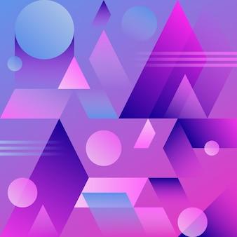 Fiołkowy abstrakcjonistyczny geometryczny gradientowy tło.