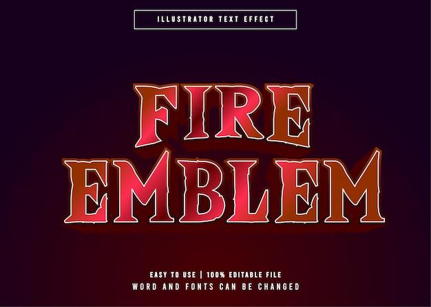 Fire emblem edytowalny efekt tekstowy