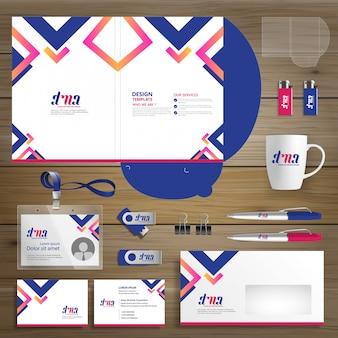 Firma corporate folder technology stationery company