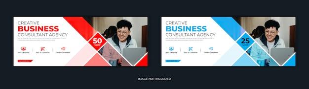 Firma korporacyjna w stylu mozaiki w mediach społecznościowych po stronie tytułowej na facebooku oś czasu w internecie