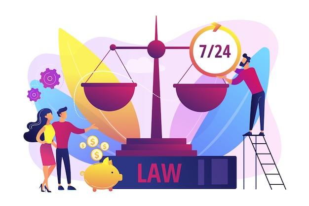 Firma prawnicza, doradztwo prawne i wsparcie. klienci notarialni. usługi prawne, skierowanie prawnika, koncepcja profesjonalnej pomocy prawnej.