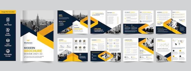 Firmowa broszura biznesowa lub szablon premium profilu firmy