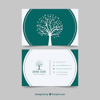Firmowa karta z drzewem