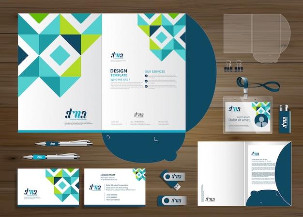 Firmowa technologia folderów firmowych, materiały biurowe, prezentacja