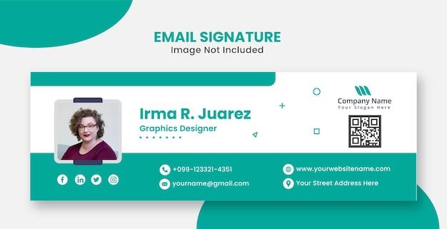 Firmowy nowoczesny i profesjonalny podpis e-mail na stronie internetowej