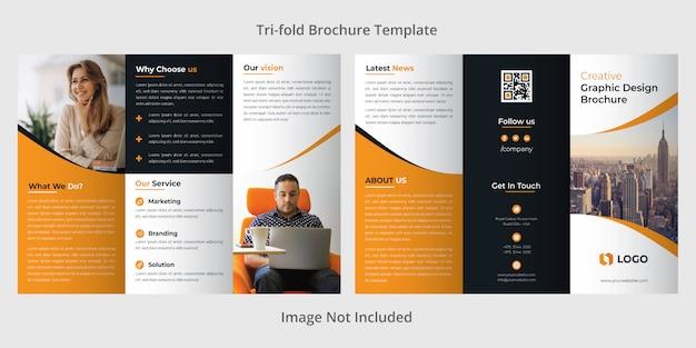 Firmowy szablon broszury trójstronnej