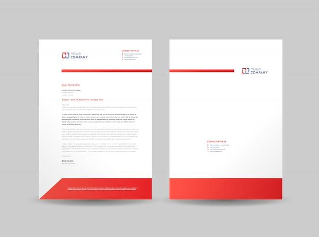 Firmowy szablon papier firmowy