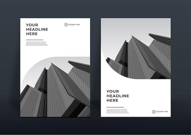 Firmowy szablon projektu okładki książki lub tło szablonu ulotki dla projektu biznesowego. nowoczesny szablon profilu firmy w formacie a4