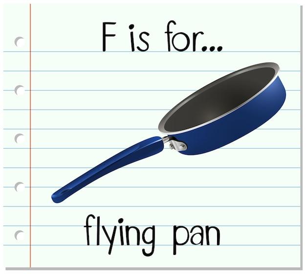 Fiszek litera f jest dla latającego pan