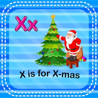 Fiszka litera x jest dla x-mas