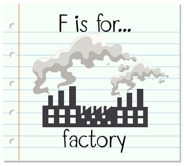 Fiszki litera f jest dla fabryki