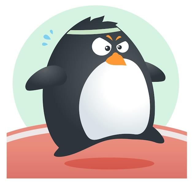 Fit penguin marathon