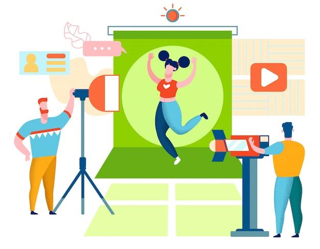 Fitness blogger nagrywanie wideo
