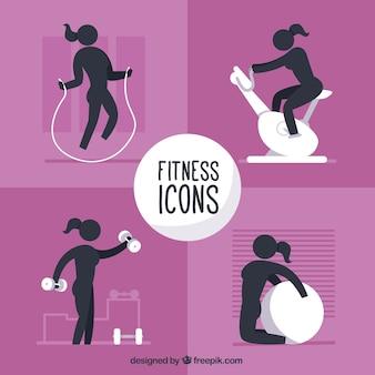 Fitness dla kolekcji ikon kobiety