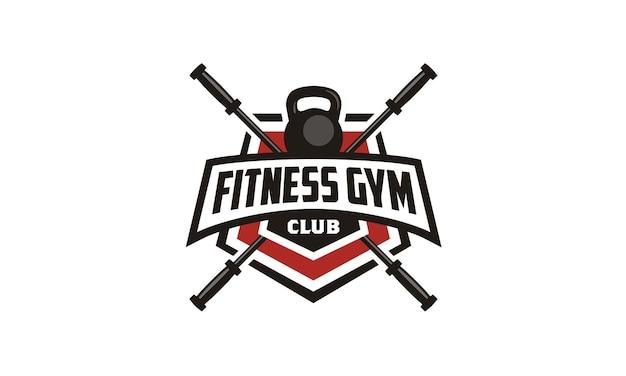 Fitness / gym emblem badge logo design