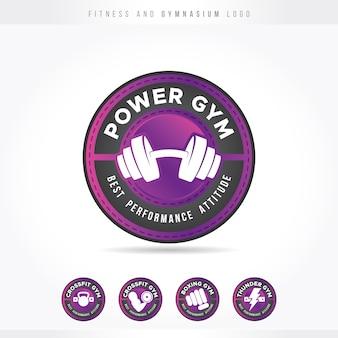 Fitness i siłownia pink logo