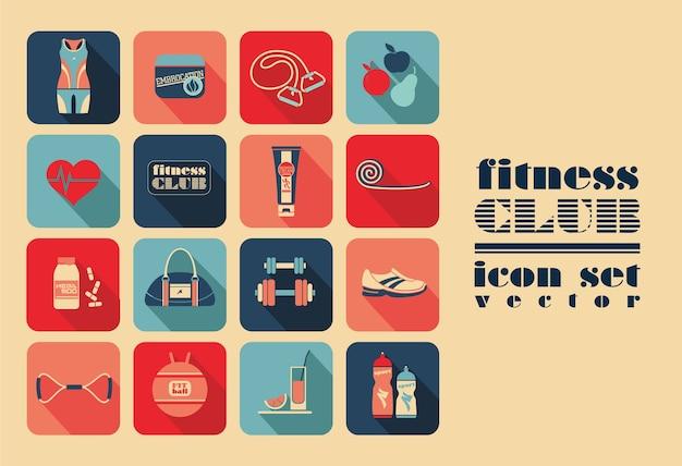Fitness ikony ustaw