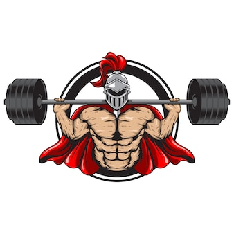 Fitness ilustracja spartan