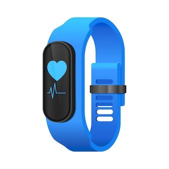 Fitness inteligentny zegarek koncepcja realistyczne izometryczny