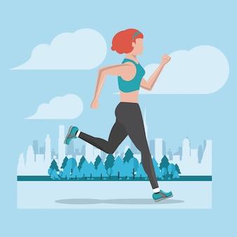 Fitness kobieta działa