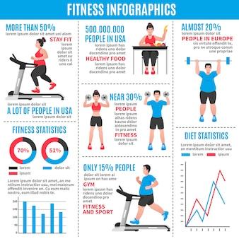 Fitness kolorowe infografiki