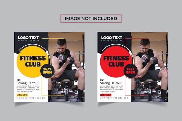 Fitness social media baner